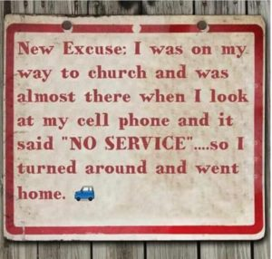 Not a vaild excuse!